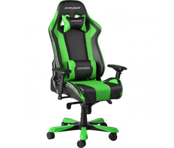 Игровое кресло DXRacer King OH/KS06/NE (Black/Green)