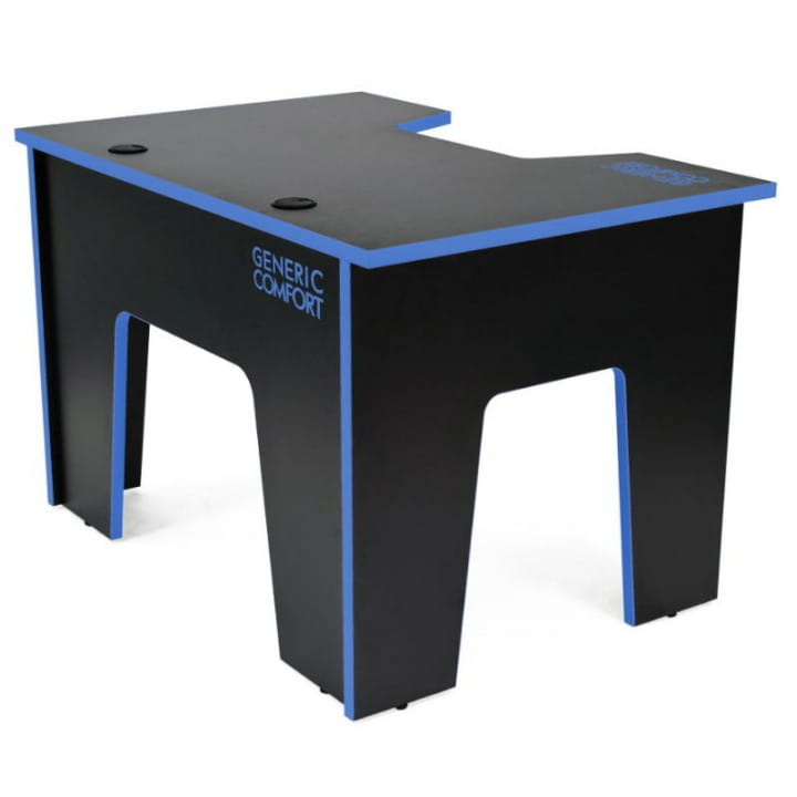 Компьютерный стол Generic Comfort Office/N/B (Black/Blue)