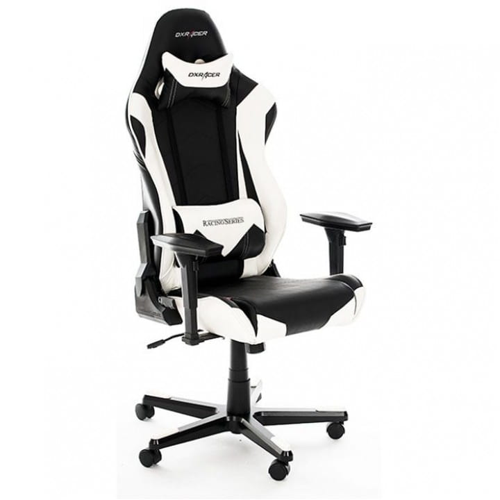 Игровое кресло DXRacer Racing OH/RE0/NW (Black/White)